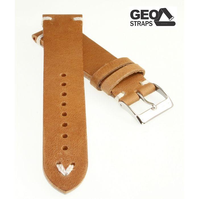 Uhrenarmband GEO-Straps Beluga cognac