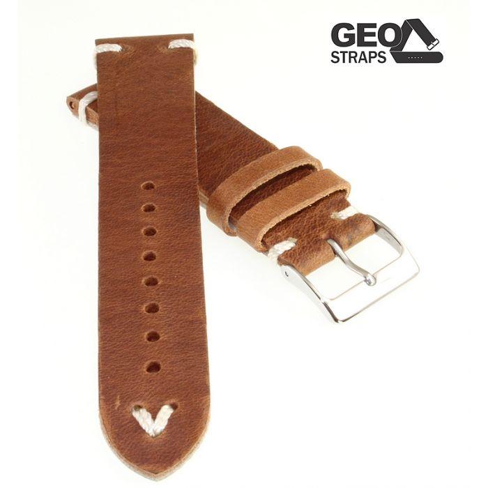 Uhrenarmband GEO-Straps Beluga havanna