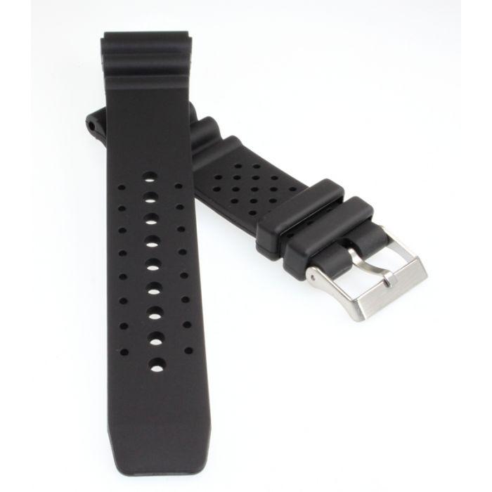 Sport-Taucher Uhrenband Kunststoff schwarz 24 mm ohne Tabelle