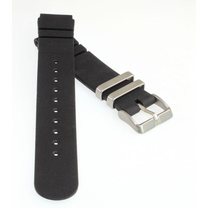 Taucher Uhrenband Kunststoff CIT1 schwarz 19 mm Metallschlaufen
