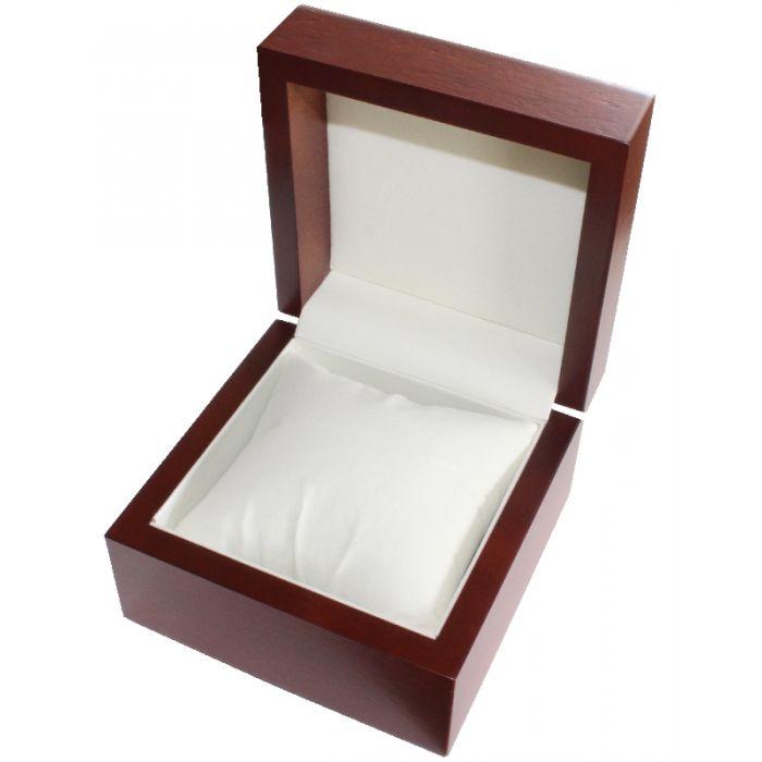 uhrenbox f r 1 uhr mit echtholzfurnier mahagoni. Black Bedroom Furniture Sets. Home Design Ideas