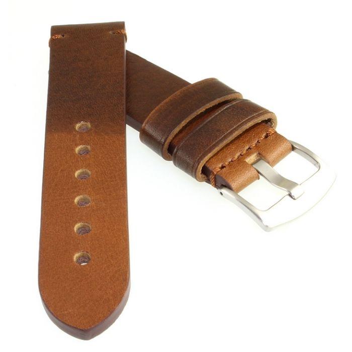 Vintage Rindleder Uhrenband Modell Vintage-Persio haselnuss