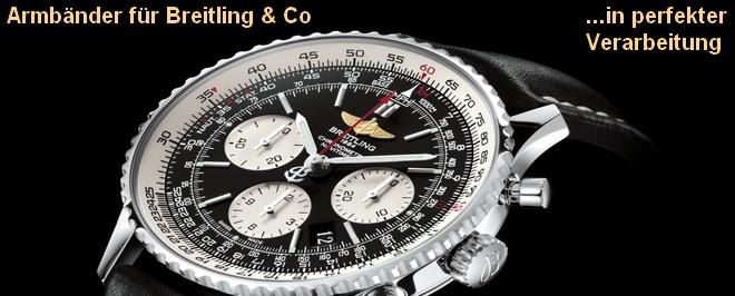 Armbänder für Breitling & Co