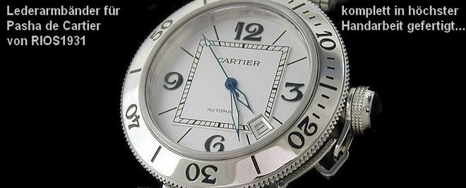 Ersatzarmbänder für Pasha de Cartier