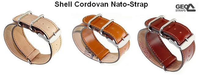 Shell Cordovan Nato-Straps von GEO-Straps