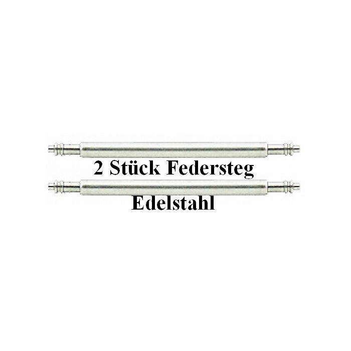2 Stk. Federsteg 26 mm Edelstahl mit Doppelkopf