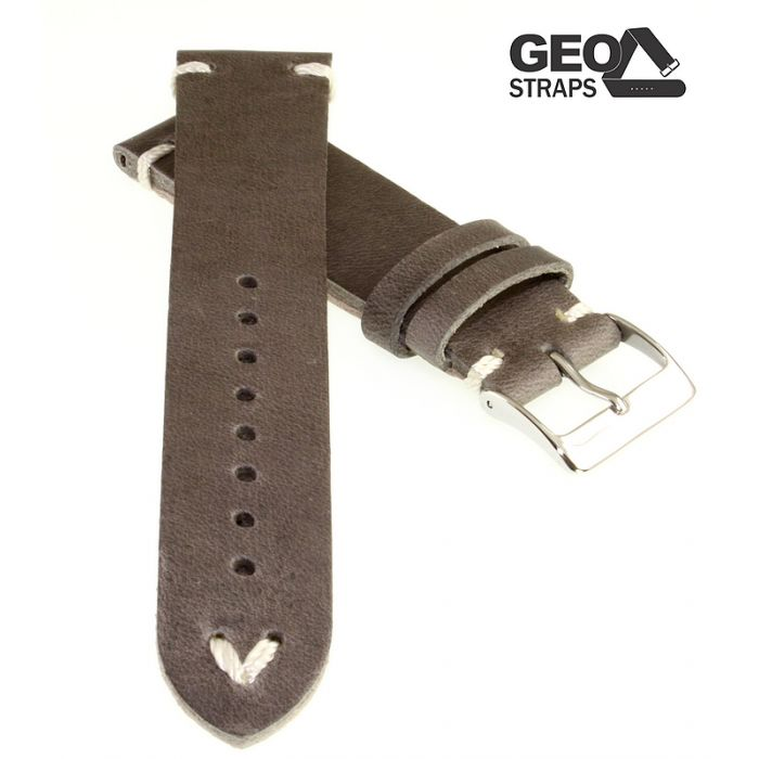 Uhrenarmband GEO-Straps Beluga grau