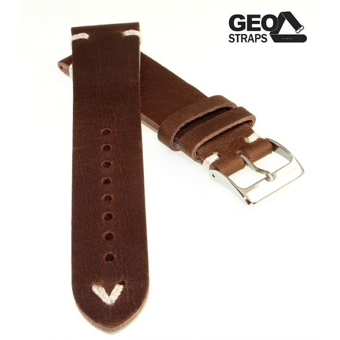 Uhrenarmband GEO-Straps Modell Beluga mocca