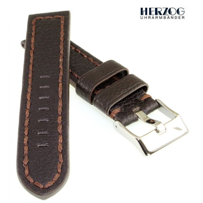Herzog Rindleder Uhrarmband Modell Extremo mocca