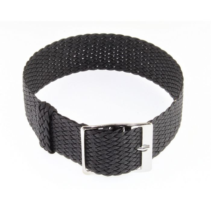 Perlon Durchzugs-Uhrenarmband Modell Robby-Fashion grau 18 mm