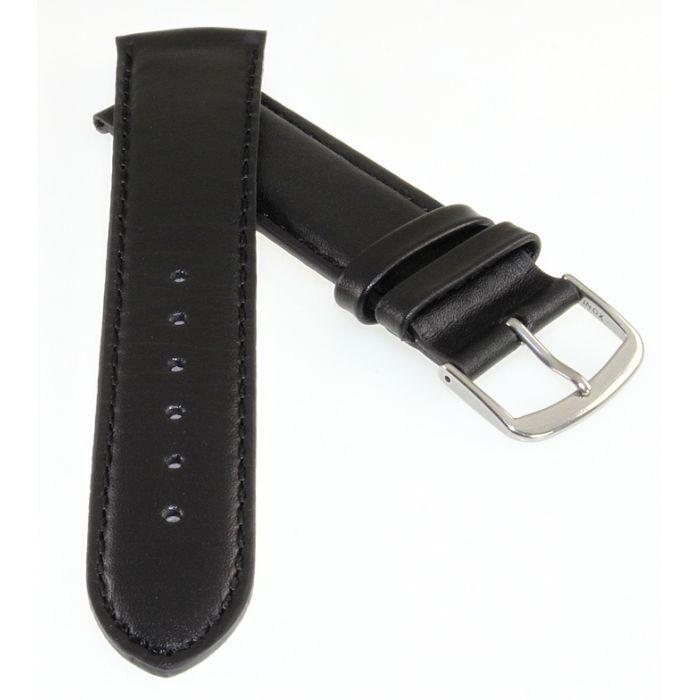 TrendArt-24 Rundanstoß Uhrenarmband Modell Rondo-Glatt-TiT schwarz 22 mm