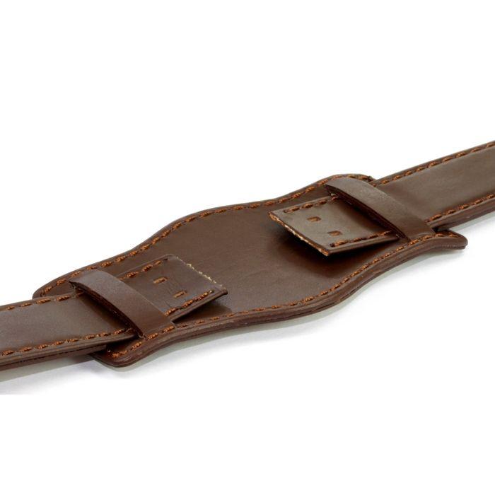 TrendArt-24 Uhrenarmband für feste Federstege mit Unterlage braun 20 mm