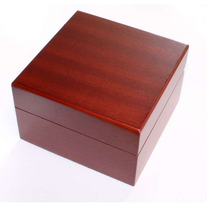 Uhrenbox für 1 Uhr mit Echtholzfurnier - Mahagoni