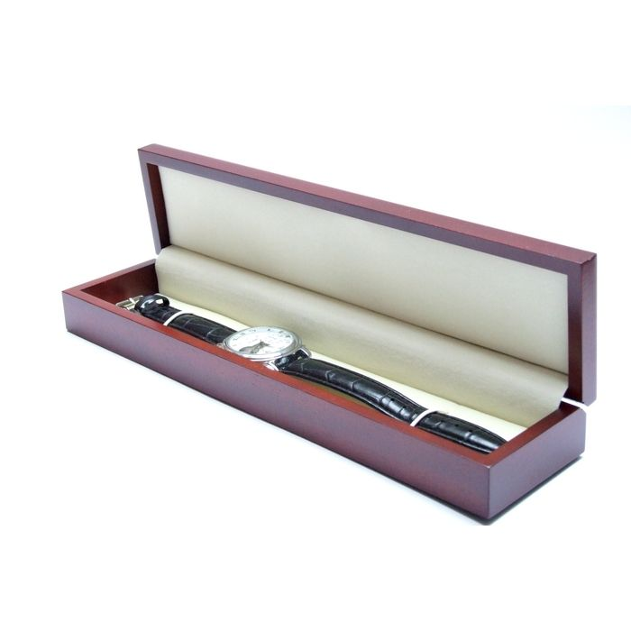 Uhrenschatulle für 1 Uhr - Mahagoni Design