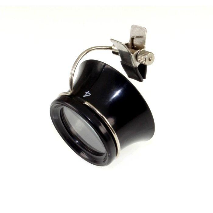 Uhrmacher Okular 4-fache Vergrößerung für Brillenträger