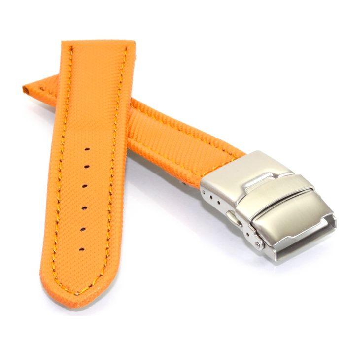 Vollsynthetik Uhrenarmband-Sicherheitsschließe rot wasserfest 18 mm