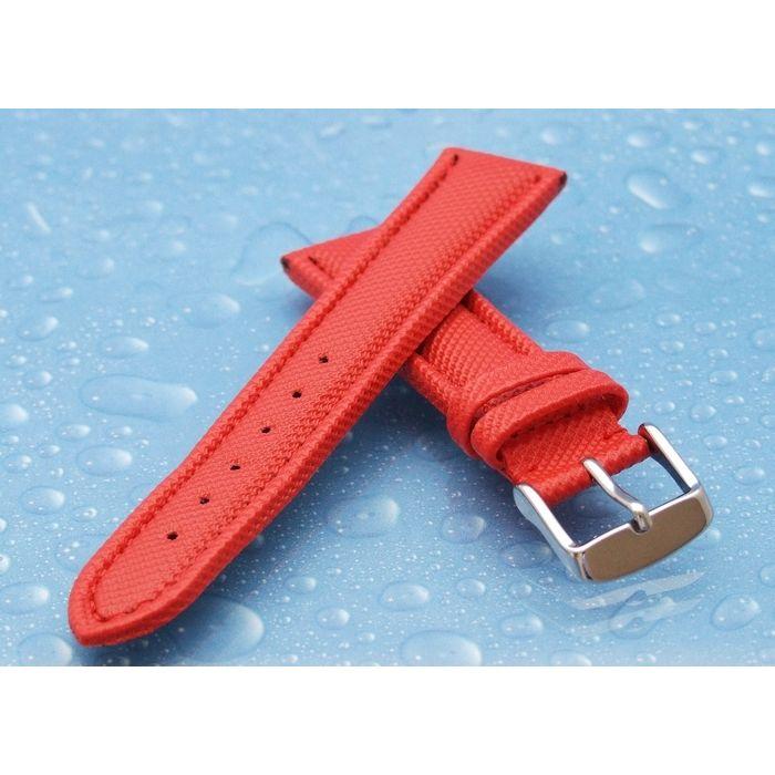 TrendArt-24 Vollsynthetik Uhrenband rot wasserfest 22 mm