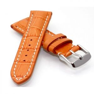 Alligator Uhrenarmband Modell Louisiana-XL orange-WN 20 mm, extralang
