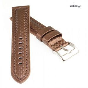 Diloy Carbon Uhrenband Modell Carbon-Chrono blau 24 mm Biżuteria i Zegarki