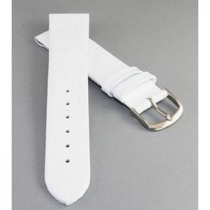 Clipsystem Feines Kroko Clip-Uhrenarmband Modell Clip-Luis weiß 10 mm