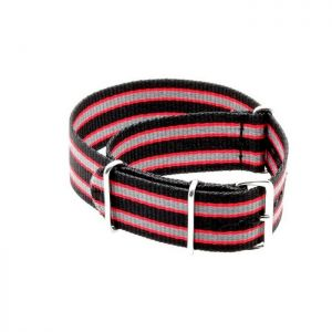Nato-Nylon Uhrenarmband Modell Camp bicolor 18 mm