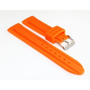 Silikon Uhrenarmband Modell Barracuda orange 30 mm