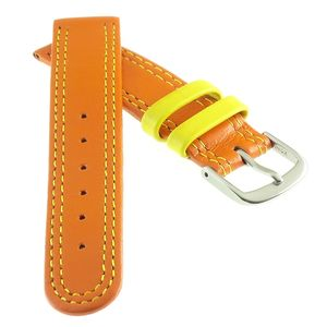 Kalbsleder Kinder-Uhrenarmband Modell Junior orange 14 mm