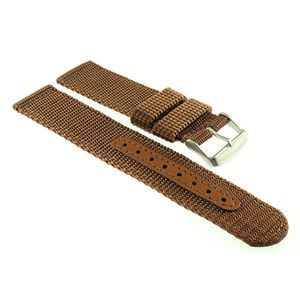 Canvas Textil Uhrenarmband Modell Vineo coffee-braun 24 mm