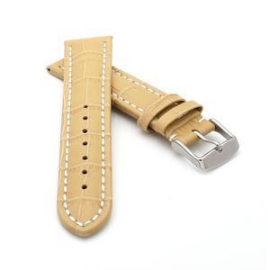 Alligator Uhrenarmband Modell Louisiana-NL sand-beige-WN 18 mm