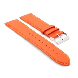 Uhrenarmband Jungkalb Modell Chur orange 22 mm