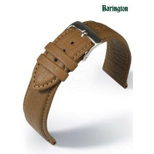 Uhrenarmband   Leder glatt hellbraun  ohne Naht  20mm 18mm 16mm XS