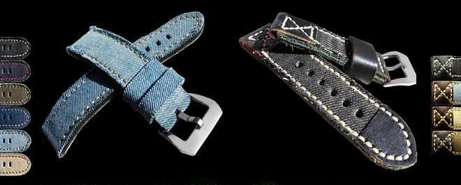 Uhrenarmbänder im Jeans Design!!